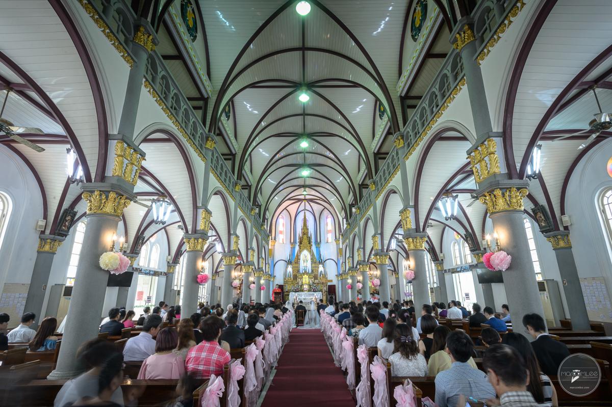 [高雄婚攝] 皓為 & 淑惠 婚禮記錄 @ 天主教玫瑰聖母聖殿 教堂婚禮