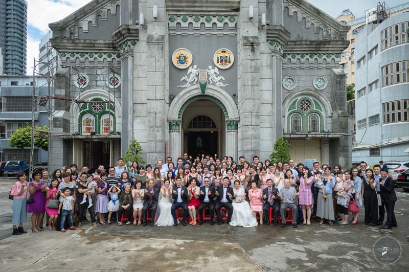 聖母玫瑰教堂,集團婚禮,兄妹合辦,婚攝,天主教